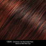 130/4 | Dark Brown, Dark Red and Medium Red Blend with Medium Red Tips