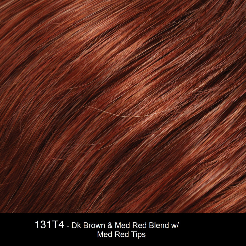 131T4S4 | Dark Brown and Medium Red Blend with Medium Red Tips, Shaded with Dark Brown