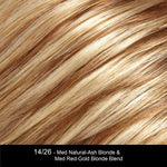14/26 - Med Natural-Ash Blonde & Med Red-Gold Blonde Blend