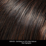 1BRH30 - Soft Black w/ 33% Med Natural Red Highlights