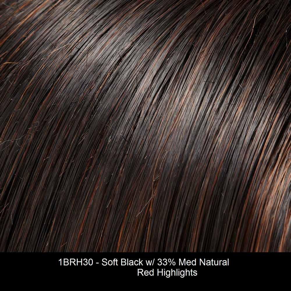 1BRH30 CHOCOLATE PRETZEL | Soft Black with 33% Gold-Red Highlights