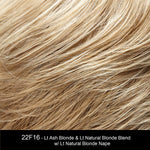 22F16 BLACK TIE BLONDE | Champagne Blonde & Ash Blonde Blend with Ash Blonde Nape