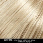 22RH613 | Light Ash Blonde with 33% Pale Natural Gold Blonde Highlights