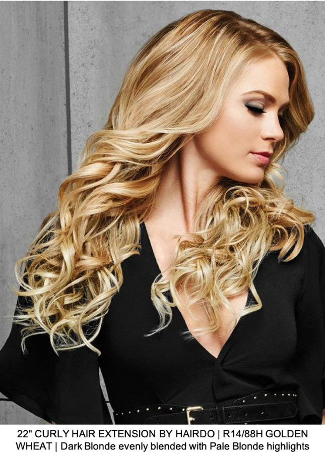 "22"" CURLY HAIR EXTENSION BY HAIRDO 