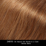 24B18 - Dk Natural Ash Blonde & Lt Gold Blonde Blend