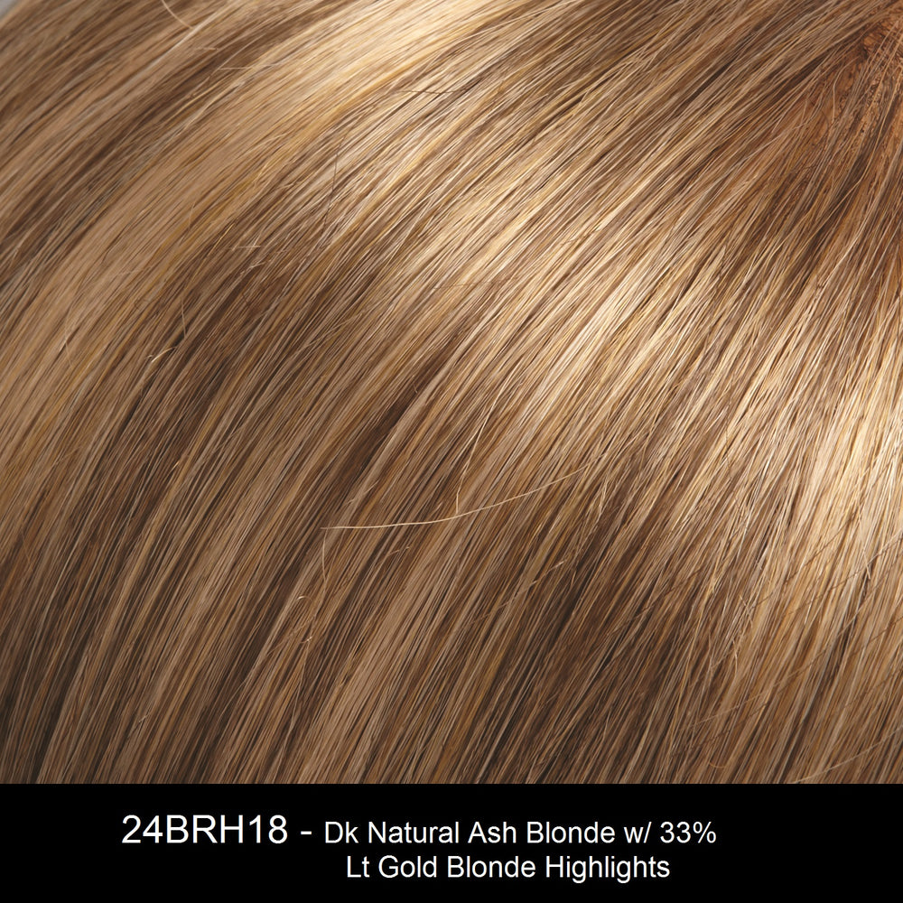 24BRH18 | Dark Natural Ash Blonde with 33% Light Gold Blonde Highlights
