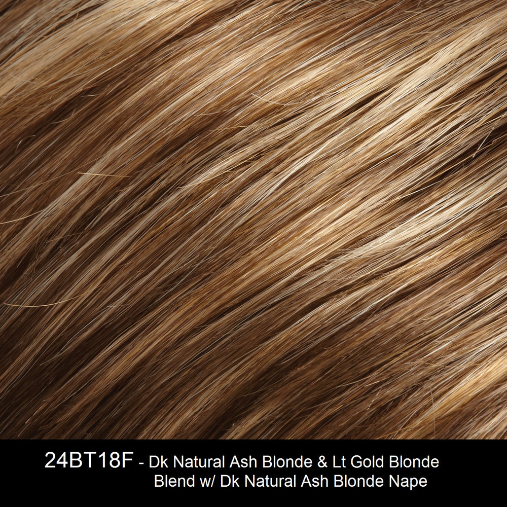 24BT18F | Dark Natural Ash Blonde and Light Gold Blonde Blend with Dark Natural Ash Blonde Nape