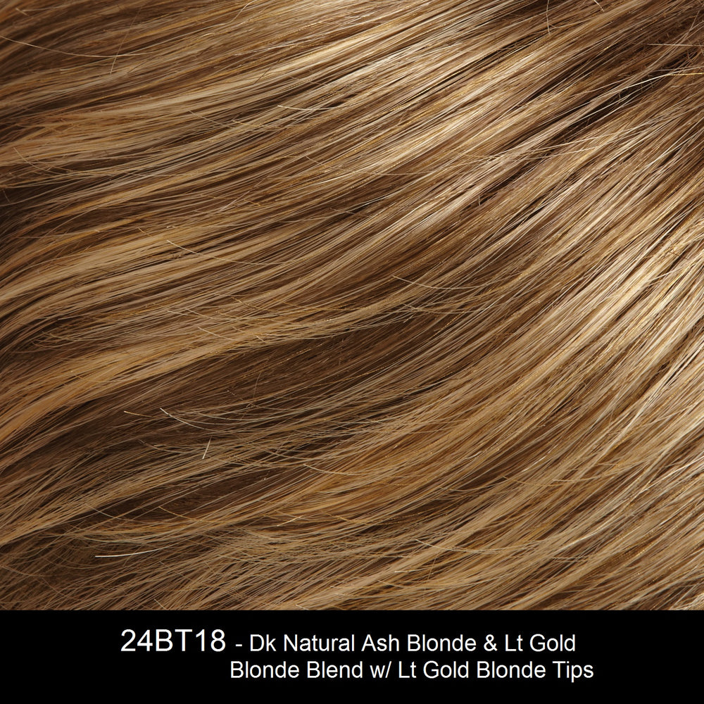 24BT18 - Dk Natural Ash Blonde & Lt Gold Blonde Blend w/ Lt Gold Blonde Tips