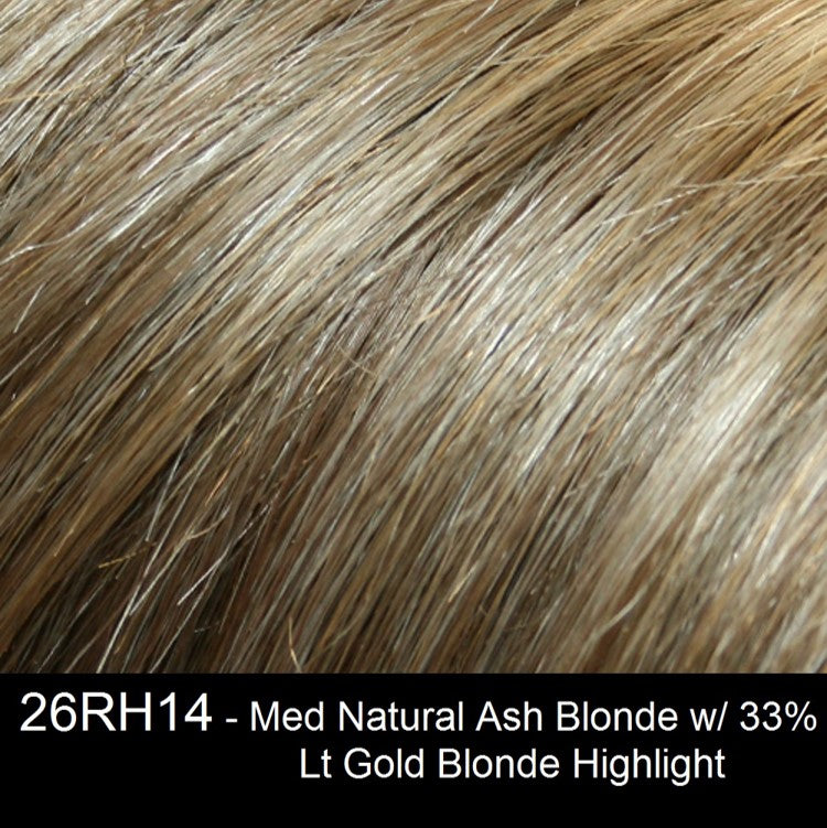 26RH14 | Medium Natural Ash Blonde with 33% Light Gold Blonde Highlights