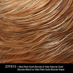 27F613 | Medium Red-Gold Blonde and Pale Natural Gold Blonde Blend with Medium Red-Gold Blonde Nape