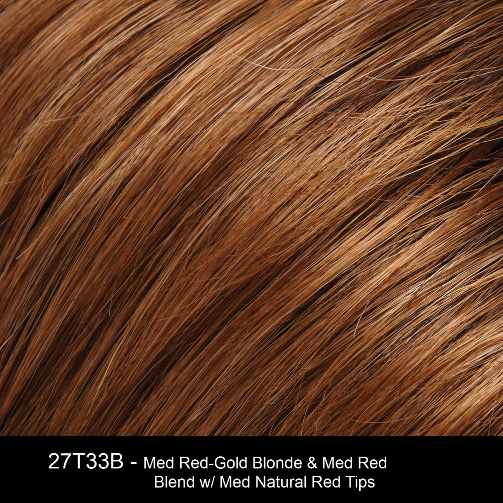 27T33B CINNAMON TOAST | Medium Red-Gold Blonde and Medium Red Blend with Medium Natural Red Tips