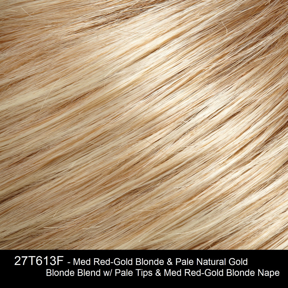 27T613F - Med Red-Gold Blonde & Pale Natural Gold Blonde Blend w/ Pale Tips & Med Red-Gold Blonde Nape