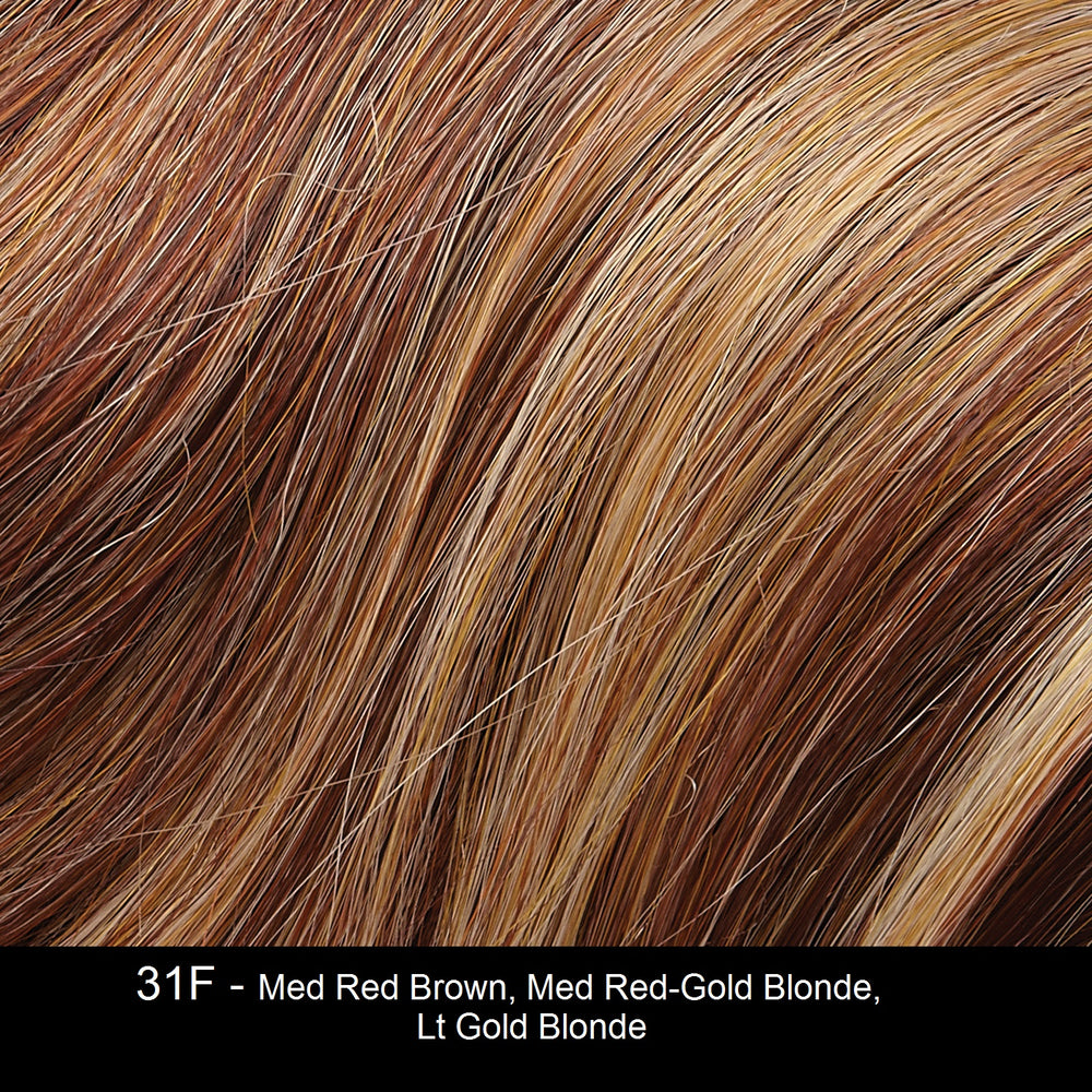 31F - Med Red Brown, Med Red-Gold Blonde, Lt. Gold Blonde