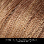 31T26 - Med Red Brown, Lt Natural Red Blend w/ Lt Natural Red Tips