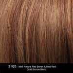 31/26 - Med Natural Red Brown & Med Red-Gold Blonde Blend