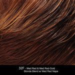 32F - Med Red & Med Red-Gold Blonde Blend w/ Med Red Nape