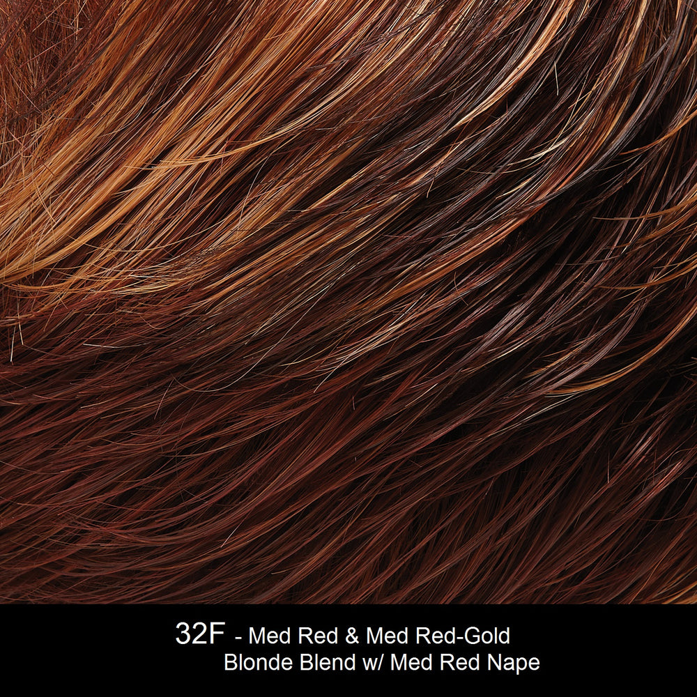 32F | Cherry Crème : Med Red & Dk Strawberry Blonde Blend w/ Med Red Nape