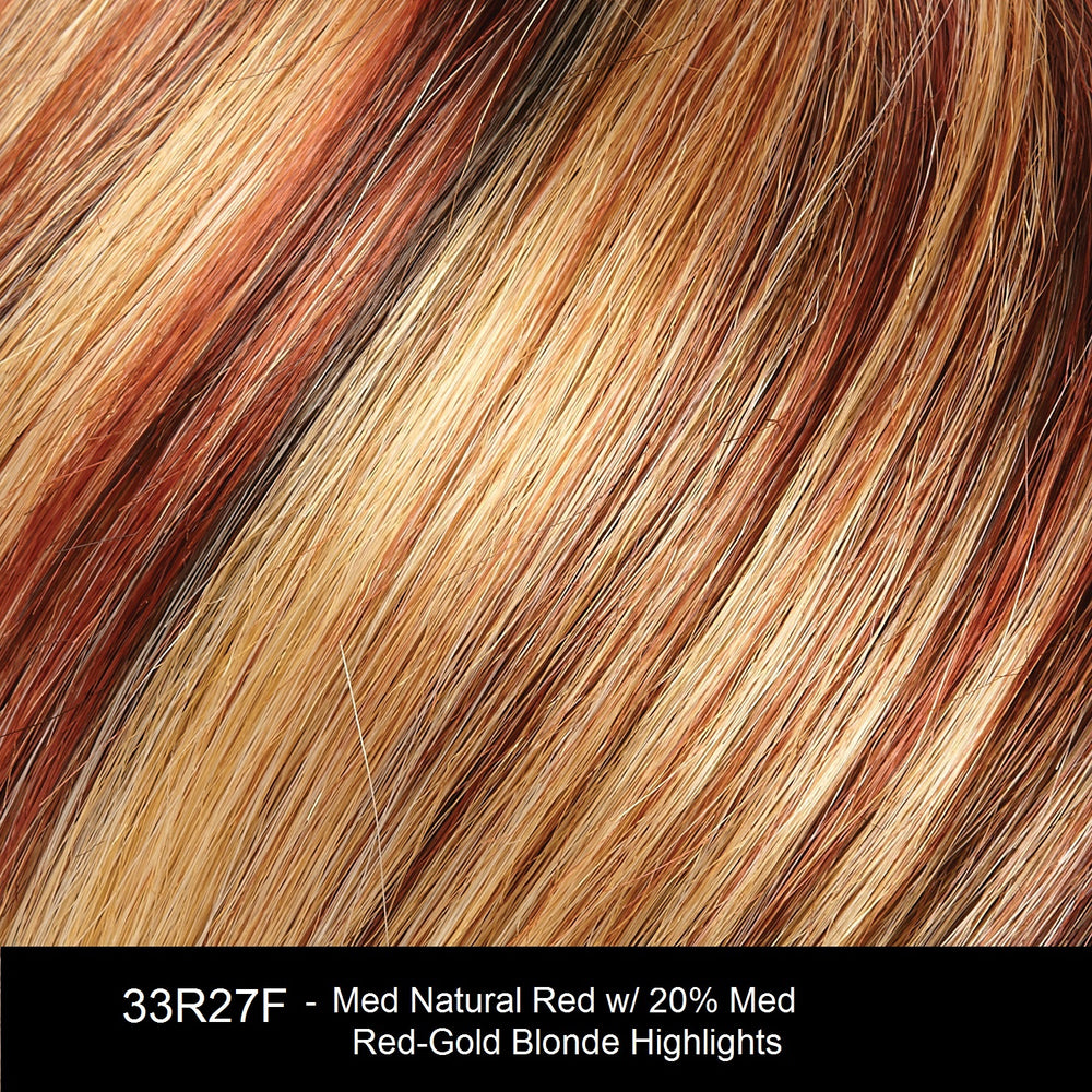 33R27F | Medium Natural Red with 20% Medium Red-Gold Blonde Highlights