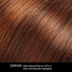33RH29 | Medium Natural Red with 33% Light Red-Gold Blonde Highlights