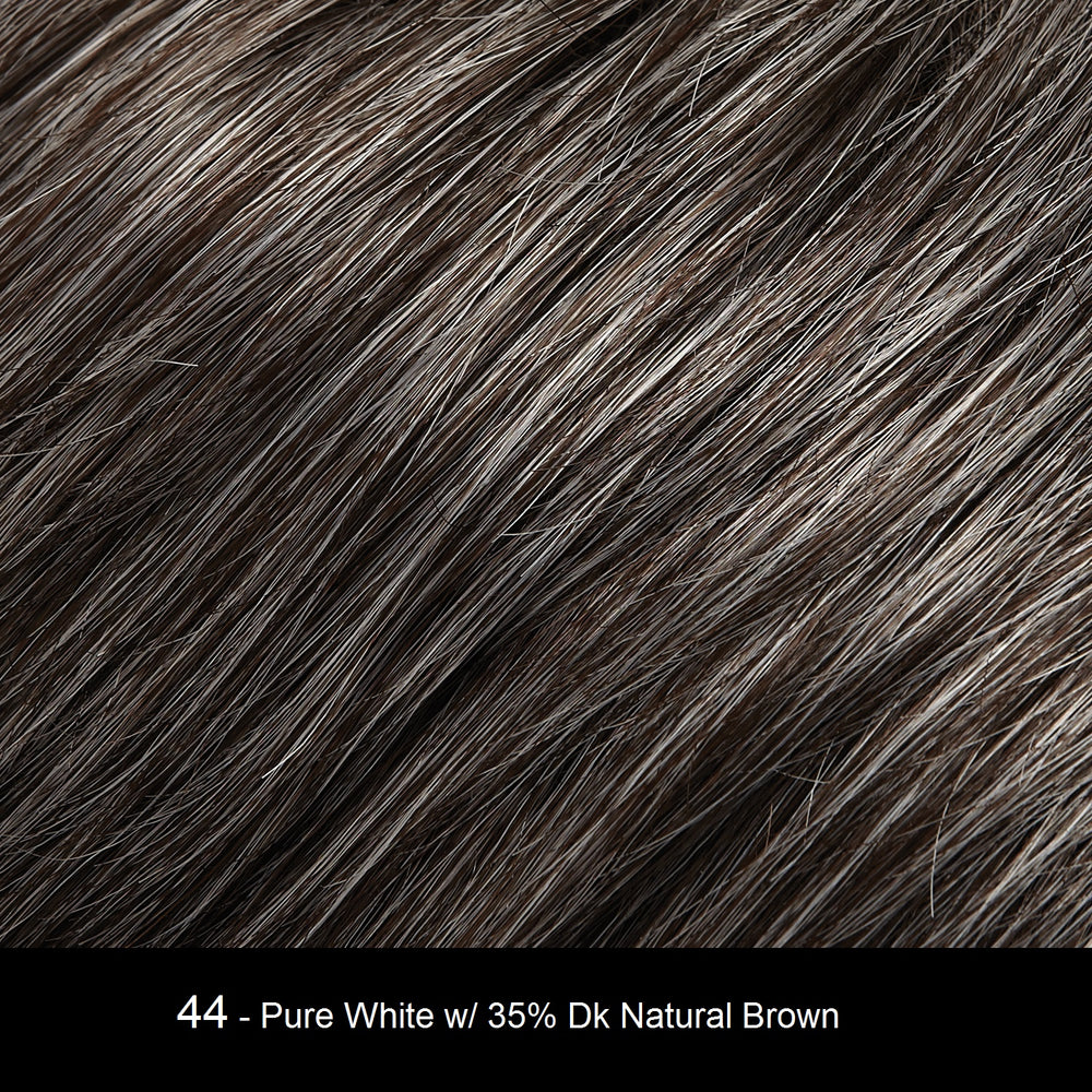 44 MARBLE FUDGE | Pure White with 35% Dark Natural Brown