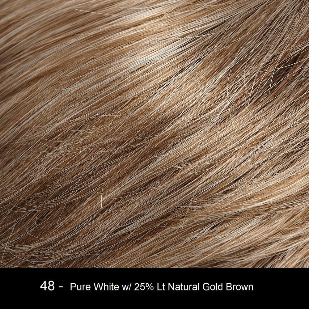 48 APPLE STRUDEL | Pure White with 25% Light Natural Gold Brown