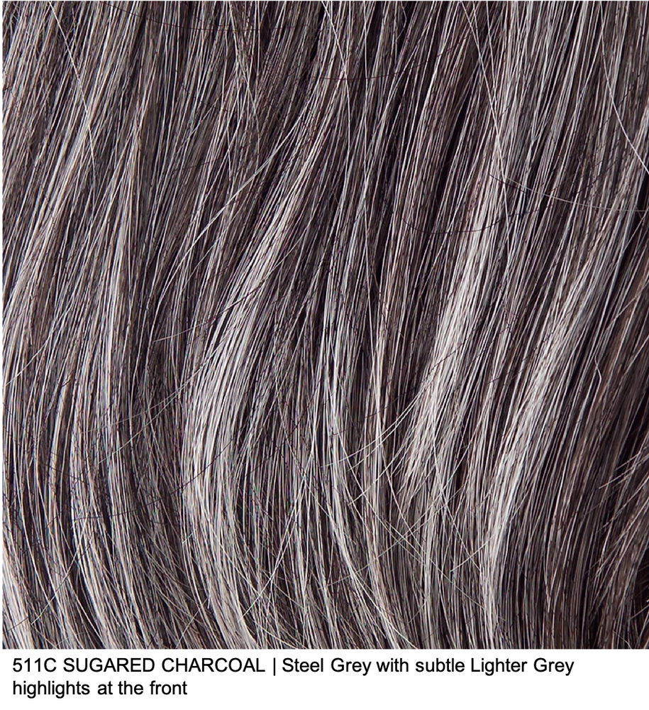511C SUGARED CHARCOAL | Steel Grey with subtle Lighter Grey highlights at the front