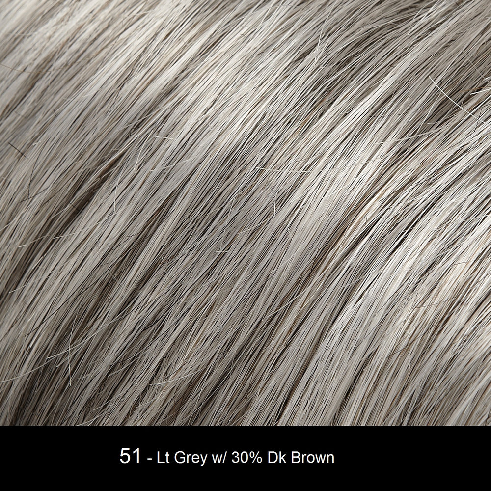 51 - Licorice Twist - Grey w/ 30% Med Brown
