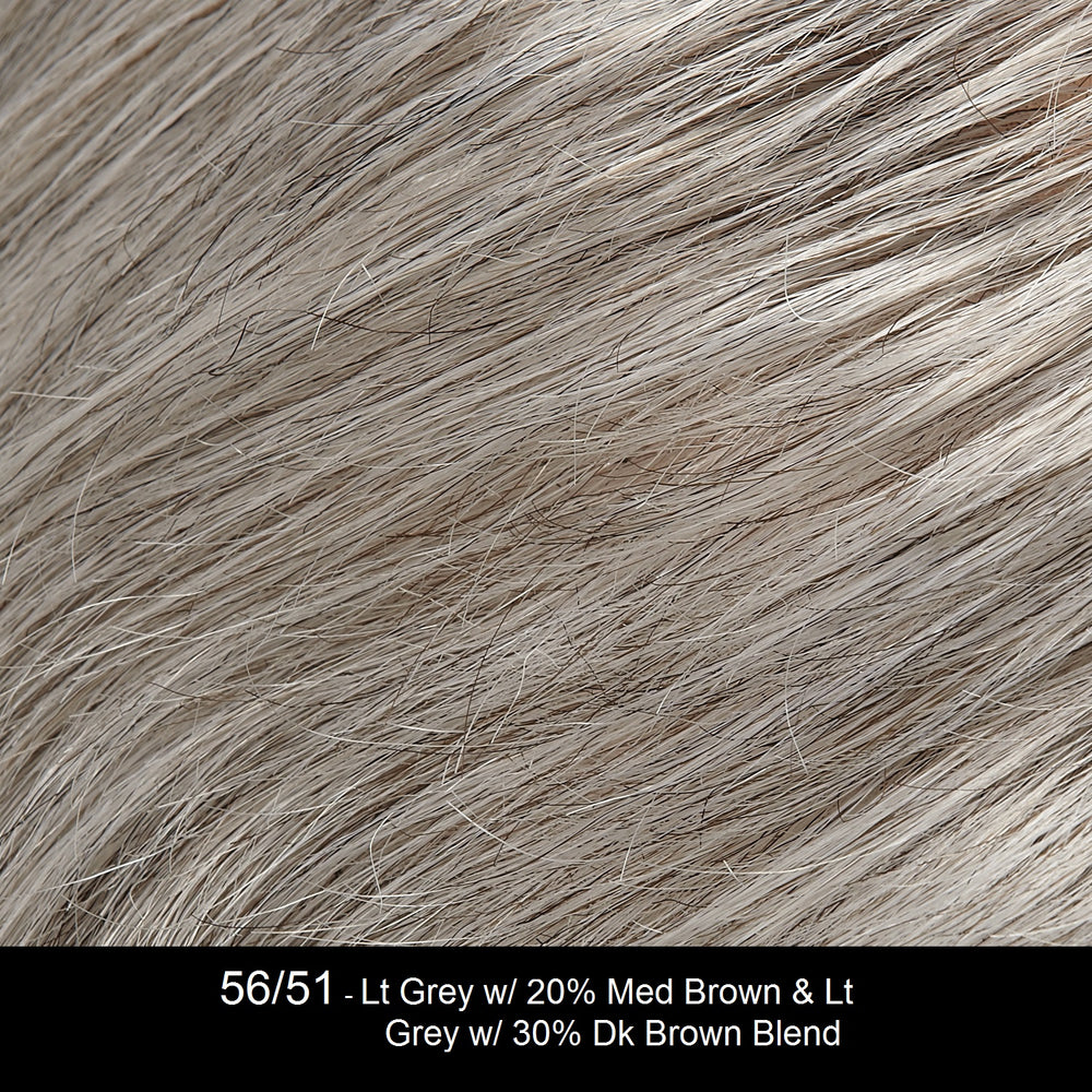 56/51 | Grey with 5% Medium Brown Blended Grey with 30% Medium Brown