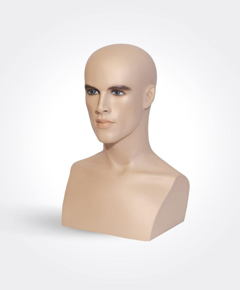 "17"" Tall Male Mannequin Head"