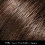 6H12 | Dark Brown with 20% Light Gold Brown Highlights
