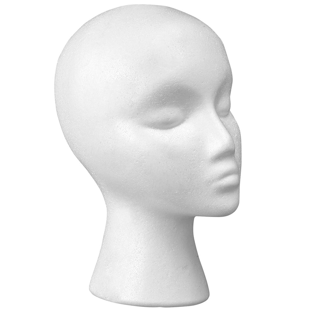 Female Face Styrofoam Head