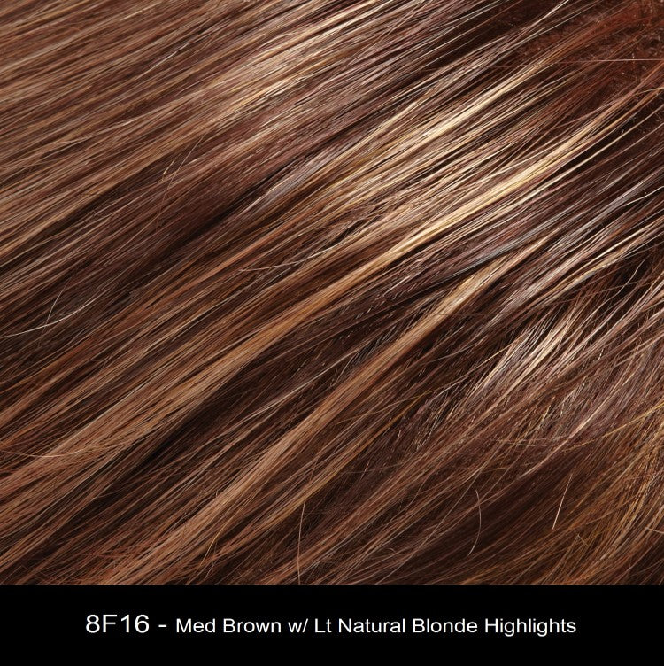 8F16 ROCKY ROAD | Medium Brown with Light Natural Blonde Highlights