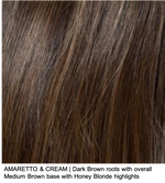 AMARETTO & CREAM | Dark Brown roots with overall Medium Brown base with Honey Blonde highlights