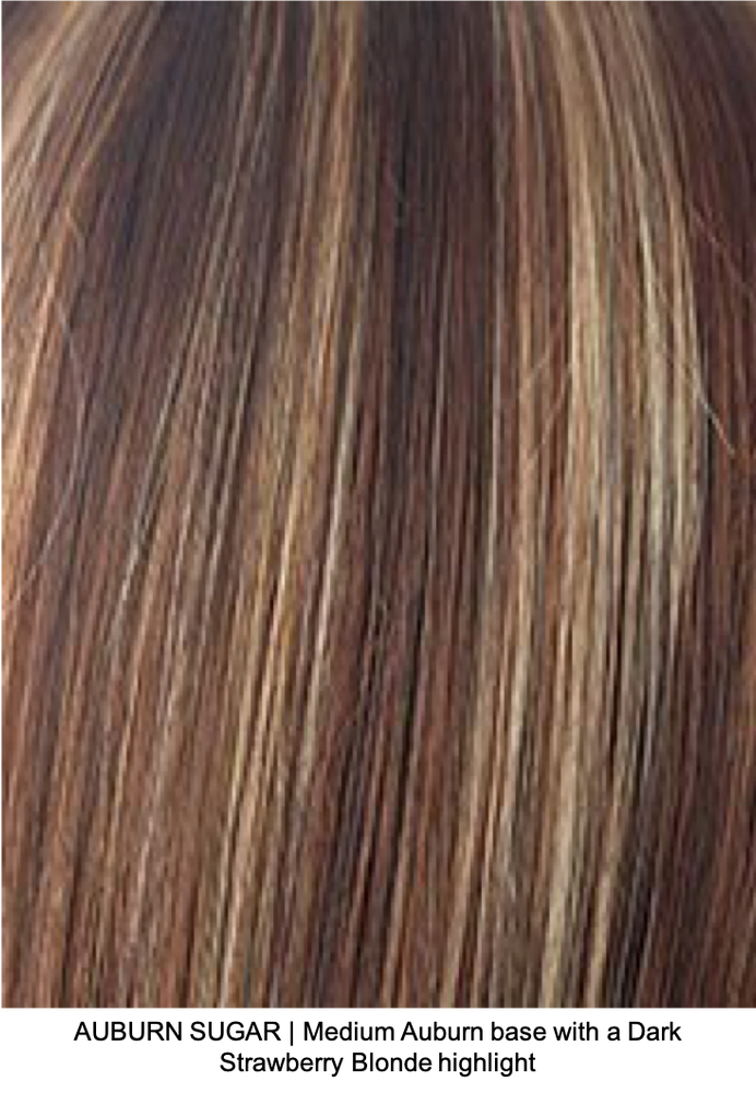 AUBURN SUGAR | Medium Auburn base with a Dark Strawberry Blonde highlight