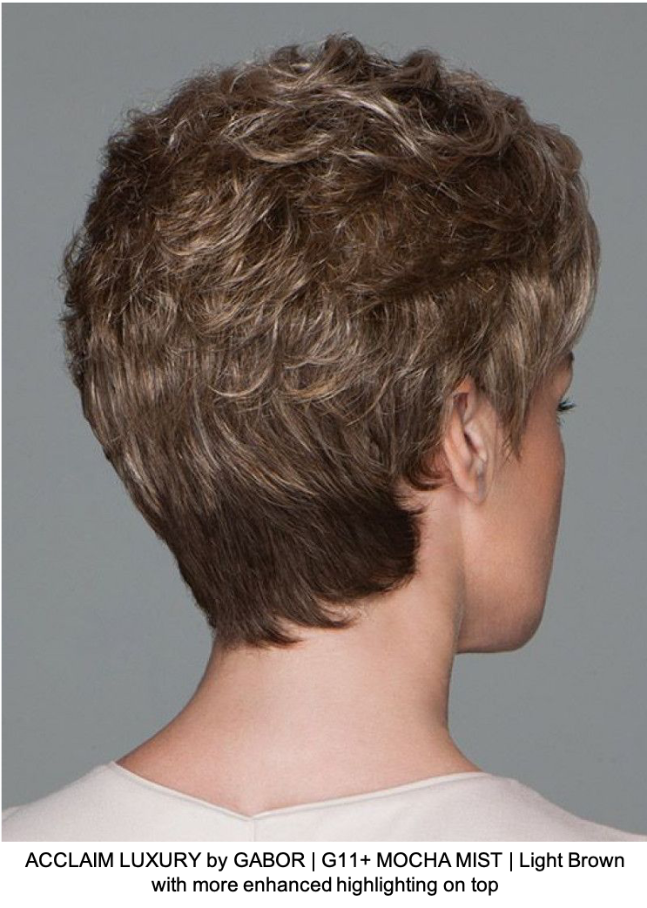 ACCLAIM LUXURY by GABOR | G11+ MOCHA MIST | Light Brown with more enhanced highlighting on top