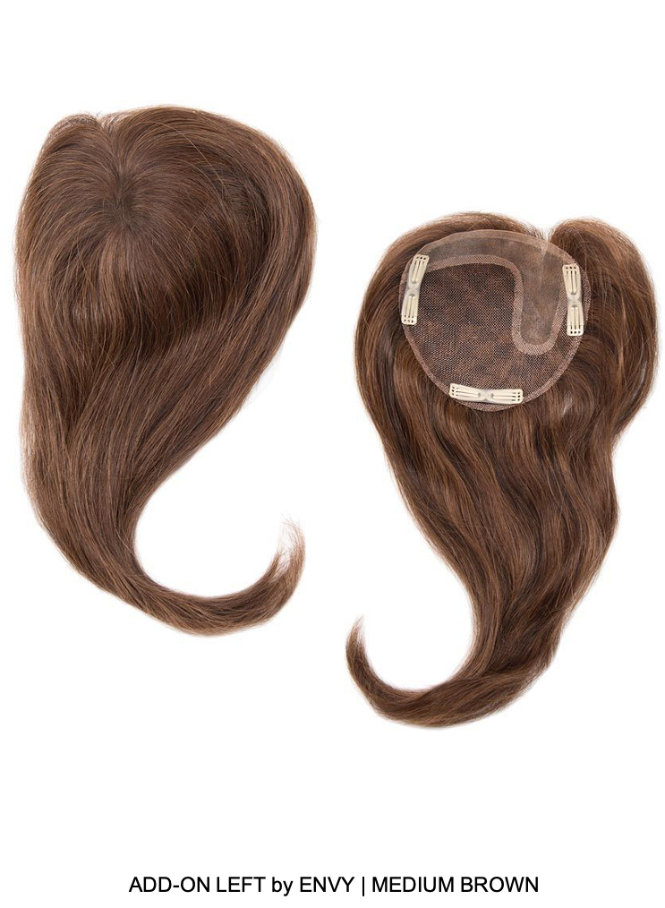 Add-On Left Human Hair Topper