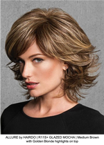 ALLURE by HAIRDO | R11S+ GLAZED MOCHA | Medium Brown with Golden Blonde highlights on top