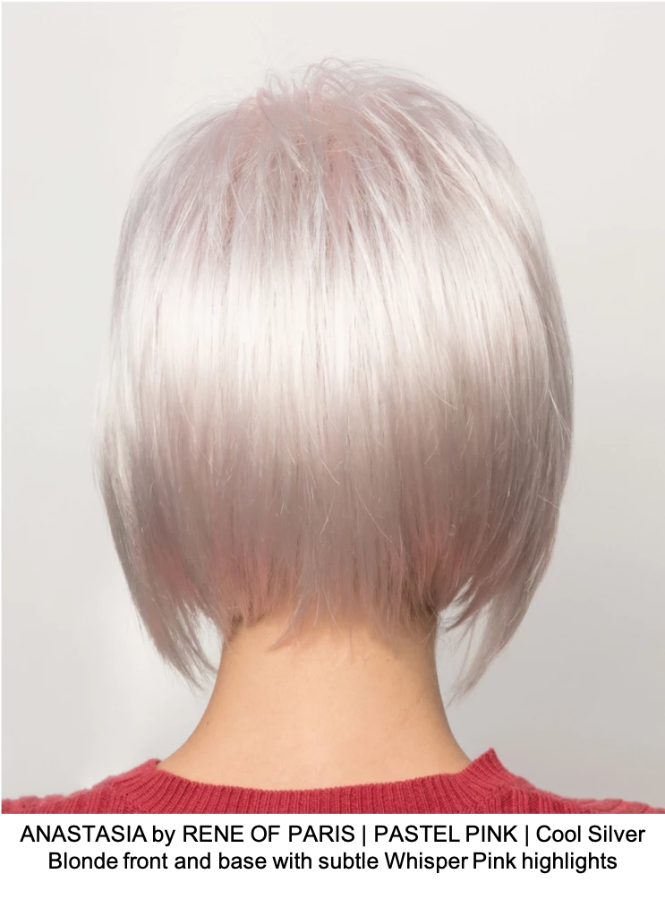 ANASTASIA by RENE OF PARIS | PASTEL PINK | Cool Silver Blonde front and base with subtle Whisper Pink highlights