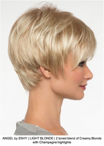 ANGEL by ENVY | LIGHT BLONDE | 2 toned blend of Creamy Blonde with Champagne highlights