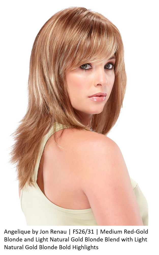 Angelique by Jon Renau | FS26/31 | Medium Red-Gold Blonde and Light Natural Gold Blonde Blend with Light Natural Gold Blonde Bold Highlights