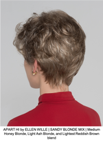 APART HI by ELLEN WILLE | SANDY BLONDE MIX | Medium Honey Blonde, Light Ash Blonde, and Lightest Reddish Brown blend
