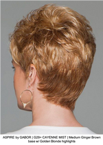 ASPIRE by GABOR | G29+ CAYENNE MIST | Medium Ginger Brown base w/ Golden Blonde highlights