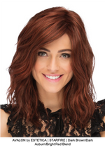 AVALON by ESTETICA | STARFIRE | Dark Brown/Dark Auburn/Bright Red Blend