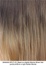 BANANA SPLIT LR | Base is slightly Warmer Brown that quickly shifts to a Light Golden Blonde