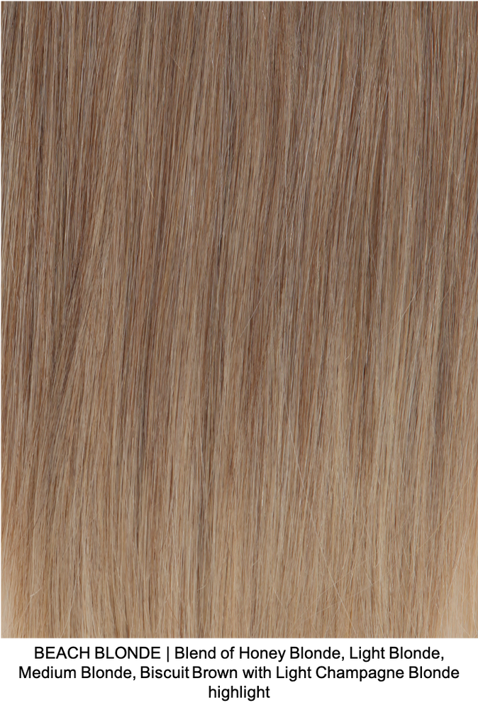 BEACH BLONDE | Blend of Honey Blonde, Light Blonde, Medium Blonde, Biscuit Brown with Light Champagne Blonde highlight