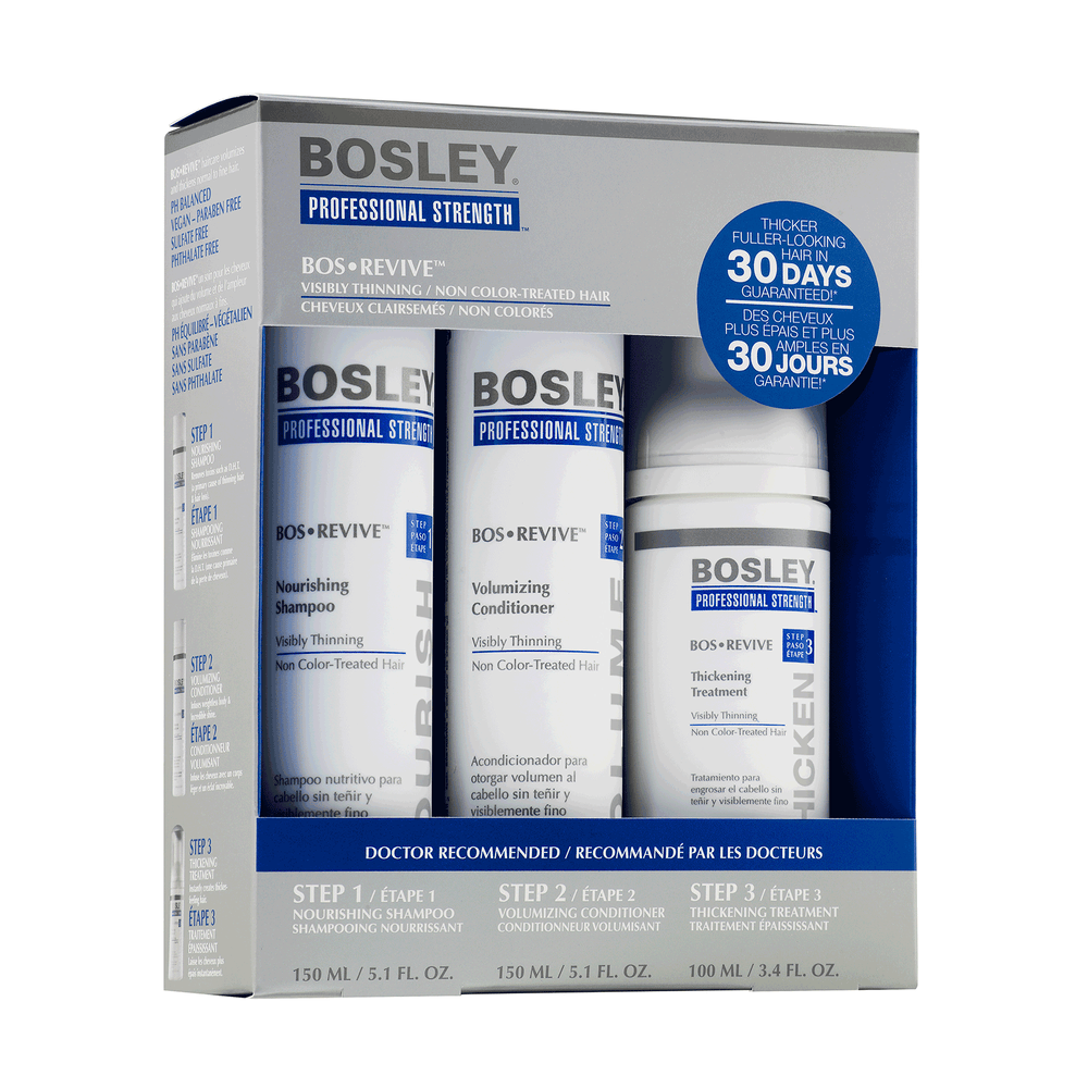 Bosley Professional BosRevive 30-Day Starter Pack for Non Color-Treated Hair