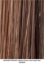 BRONZED BROWN | Medium Auburn with Copper Red highlights