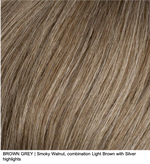 BROWN GREY | Smoky Walnut, combination Light Brown with Silver highlights