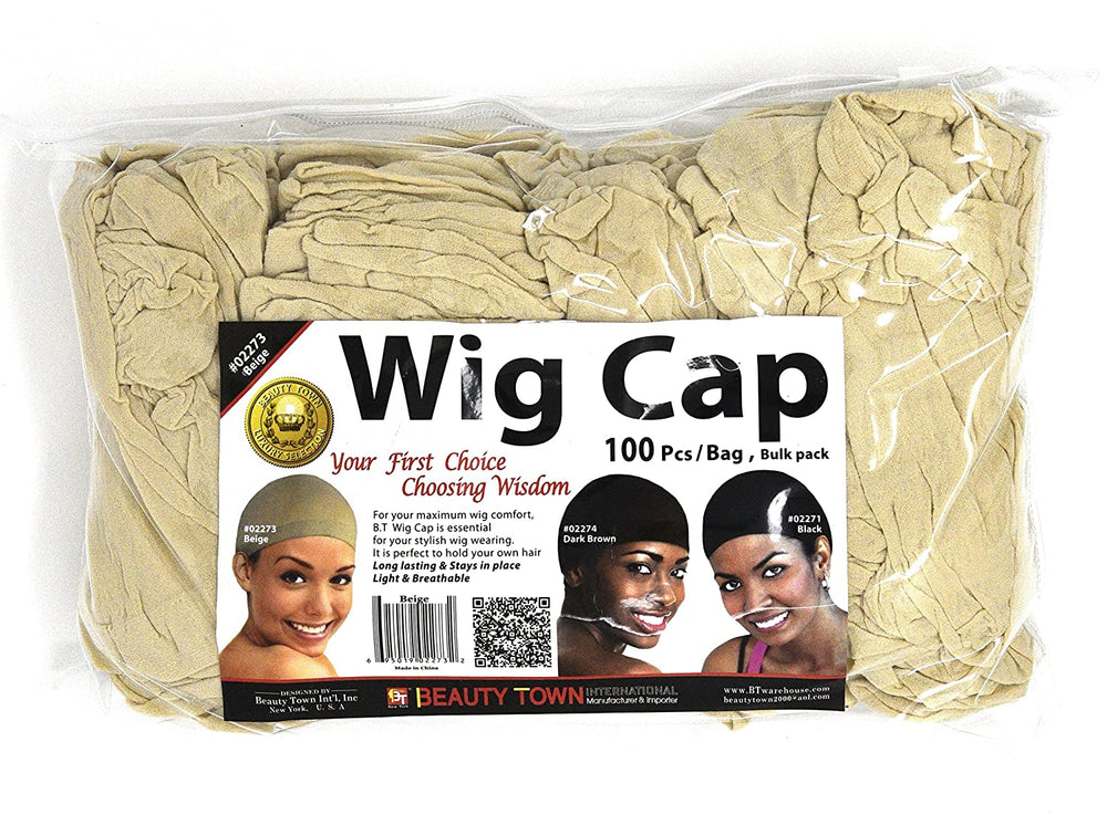 Beauty Town Wig Cap 100 Pieces Bulk Bag