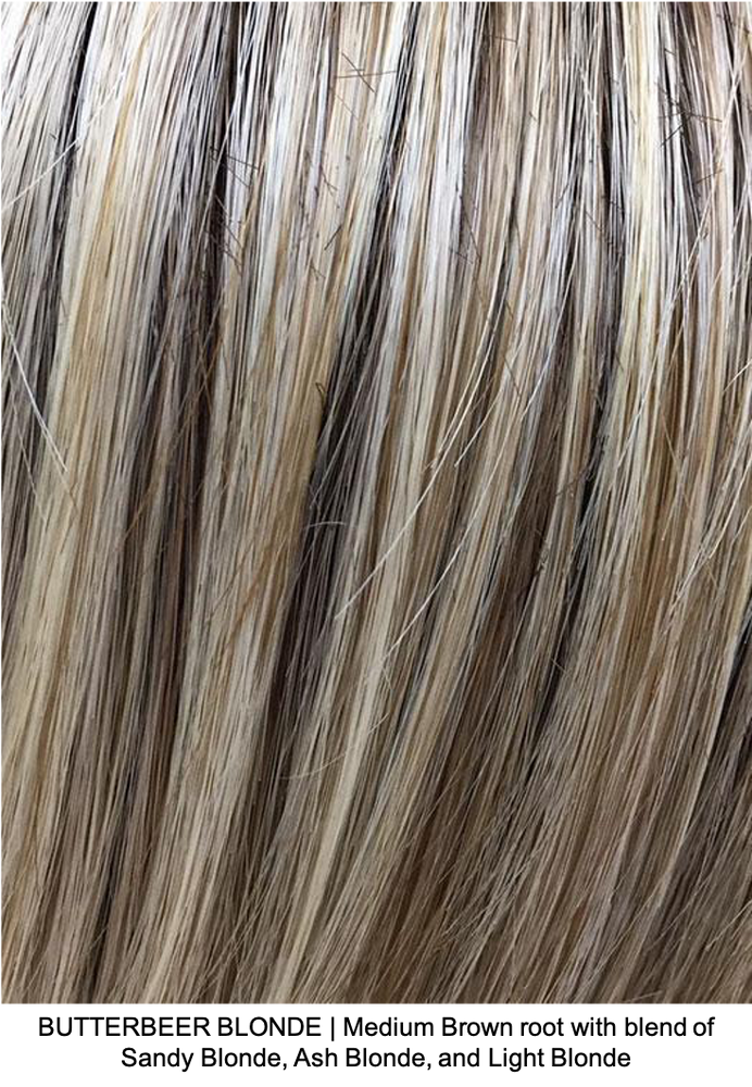 BUTTERBEER BLONDE | Medium Brown root with blend of Sandy Blonde, Ash Blonde, and Light Blonde